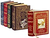 4 Volume Leatherbound Fantasy Collection - The Chronicles of Narnia, Grimms Complete Fairy Tales, Hans Christian Anderson Complete Tales and Stories, and, The Complete Works of Lewis Carroll