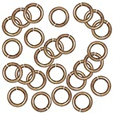 Brass Oxide Finish Pewter Open Jump Rings 7.7mm 16 Gauge (25)