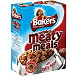 Bakers Complete Meaty Meals with Tasty Beef Dog Food 1 kg (Pack of 4)
