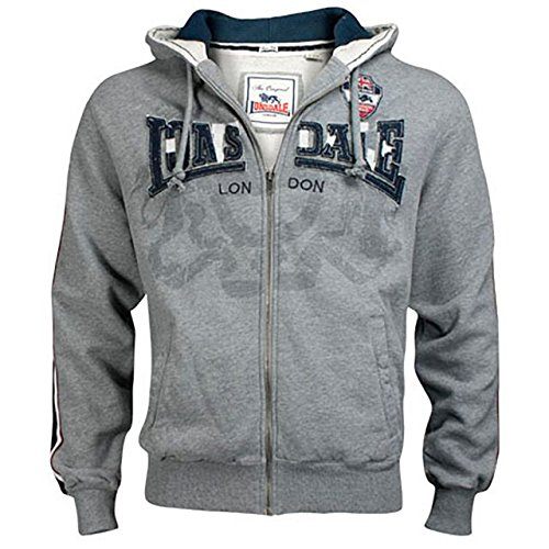 Lonsdale Slim Fit Hooded Felpa Gavin Grigio XXL (UK XL)