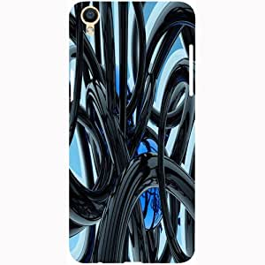 Casotec Black and Blue Rings Design 3D Printed Hard Back Case Cover for Oppo F1 Plus