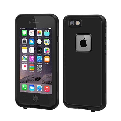 Eonfine-正規品 iPhone 6 plus 対応 防水ケース 5.5インチ フルプロテクションカバー 防水 防雪 防塵 耐震 耐衝撃 落下防止 IPx68 指紋認証対応 アイフォンケース ブラック