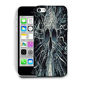 Snoogg Black Skull Printed Protective Phone Back Case Cover For Apple Iphone 6 / 6S