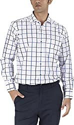 Silkina Men's Regular Fit Shirt (VPOI1118FBL, 44)