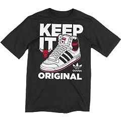 NBA adidas Chicago Bulls Keep It Original Premium T-Shirt - Black by adidas