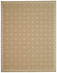7'9&quot; x 9'5&quot; Rectangular Oscar Isberian Rugs Area Rug Oat Color Machine Made Belgium &quot;Martha Stewart Collection&quot; Pinwheel Design