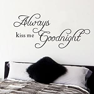 K9D Always Kiss Me Goodnight Quote Removable Wall Decal Stickers Art Home Decor 8.7 from K9D