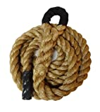 "Manila Climbing Rope w/ Eyelet End - 1.5"" thick - Great for Cross Training, MMA, Boxing, Personal Training"