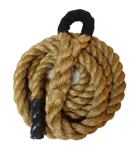 "Manila Climbing Rope W/ Eyelet End - 1.5"" X 20' - Guaranteed To Last"