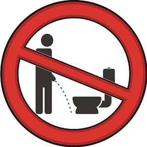 michael rene pfl ger barmstedt 4250517107884 bad wc aufkleber pinkeln im stehen verboten. Black Bedroom Furniture Sets. Home Design Ideas