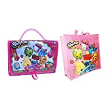 Shopkins Toy Bags Bundle: 1 Carry Case Figure Storage Organization And 1 Shopkins Bag