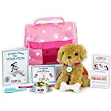 ASPCA® Complete Adopt-A-Pet Puppy Set. Doll Pets, Complete 11 Piece ASPCA® Golden Puppy Set Perfect for your 18 Inch American Girl Doll & More! Includes 11 Piece 18 Inch Doll Play Set with Dog Carrier in ASPCA® Box