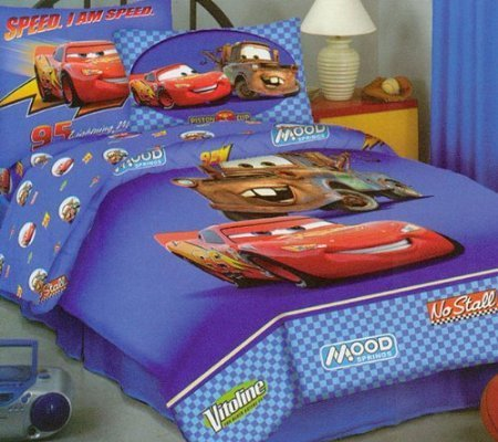 Disney Pixar Cars Lightning McQueen Mater Twin Size 4pc Comforter