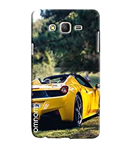 Omnam Yellow Sports Car Back Printed Designer Back Cover Case For Samsung Galaxy On 7