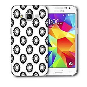 Snoogg Black Chakras Printed Protective Phone Back Case Cover For Samsung Galaxy CORE PRIME