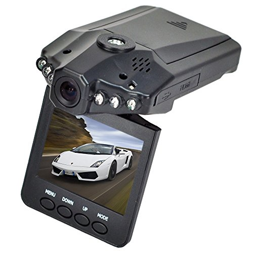 Beelike HD Car DVR Traveling Driving Data Recorder Camcorder Vehicle Camera With 120 Degree Angle View Black