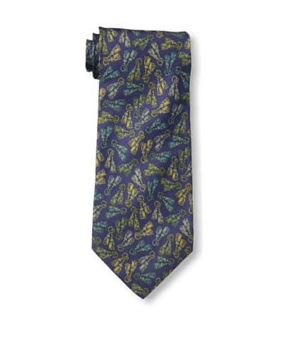 Fendi Men's Tasseled Tie, Dark Blue