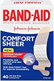 Band-Aid Adhesive Bandages, Sheer, All One Size 40 sterile bandages
