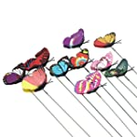 Homgaty 7cm 10Pcs Colourful Garden Bu...