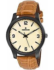 Decode GR075 Black Brown Strap Analog Wrist Watch For Men/Boys