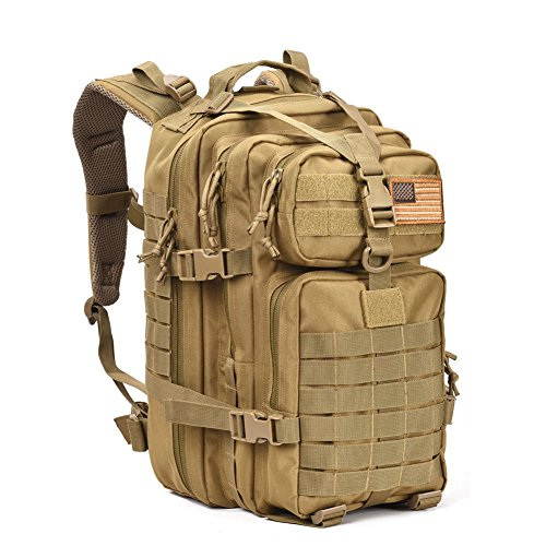 Military Tactical Assault Pack Backpack Army Molle Waterproof Bug Out Bag Backpacks Small Rucksack for Outdoor Hiking Camping Trekking Hunting Tan (Backpacks Good For Back compare prices)