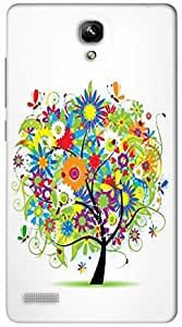 Timpax Protective Hard Back Case Cover Printed Design : A beautiful tree.Exclusively Design For : Xiaomi Redmi Note