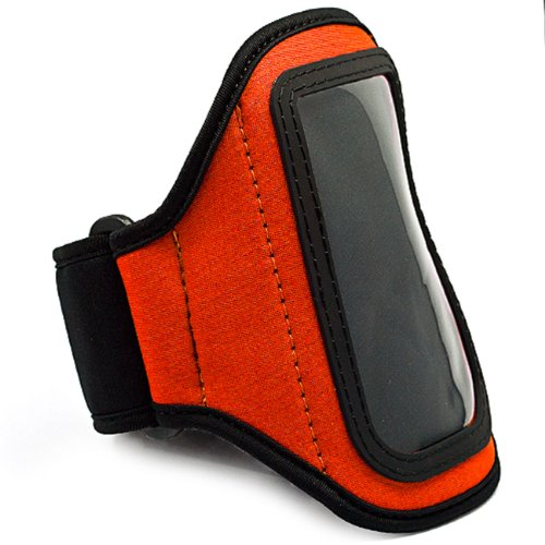 LG Viper 4G LTE Android Phone Neoprene Exercise Armband (ORANGE)!! viper storm vii 150