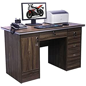 Computer Desk In Beech Black White Walnut Oak With 3 Locks For Home Office Walnut Desk 617