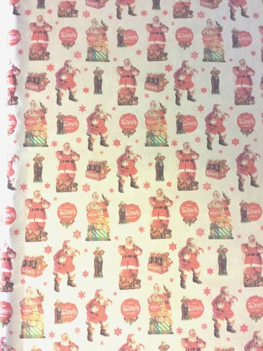 Coca Cola Christmas Holiday Extra Wide Gift Wrapping Paper Measures 70 Sq Ft Made In The Usa!