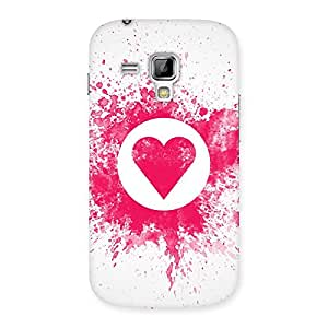 Special Splash Heart Back Case Cover for Galaxy S Duos