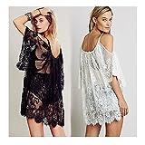 ビーチのドレス セクシーなストラップ薄い花レース刺繍かぎ針編みの夏ドレス