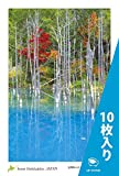 "PC-219-10 [ 10枚入り ] 北海道 風景 名所 はがき ポストカード 美瑛町 青い池 【 Postcards from Hokkaido, JAPAN "" Blue Pond in Biei "" 】"