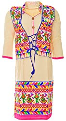 Sree Hamsa Women's Cotton Regular Fit Kurta (Off-White)
