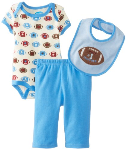 Bon Bebe Baby-Boys Newborn Mom'S Draft Pick Bib Bodysuit And Pant Football Set, Multi, 3-6 Months front-970309