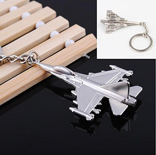 1-Pc First-class Popular Battle Plane Keychain Mini Warcraft 3D Warplane Metal Aircraft Color Silver (Small Block Chevy Key Chain compare prices)
