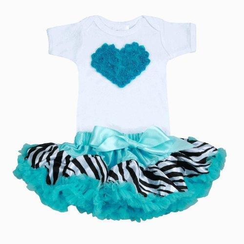 Lollipop Moon Zebra Turquoise Tutu Love Set front-763698