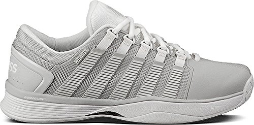 K-Swiss Hypercourt Womens Tennis Shoe (7.5, Glacier Grey/White)