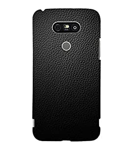 EPICCASE Black leather finish Mobile Back Case Cover For LG G5 (Designer Case)