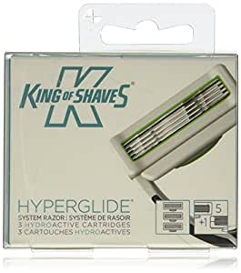 King of Shaves Hyperglide System Razor Replacement 5+1 Blade Water Activated Cartridges (3 Cartridges included)