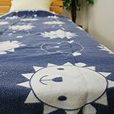 毛布 コットンブランケット シングルサイズ 140×200cm やわらかな綿100%の毛布です 綿毛布 M-140 (ライオン)