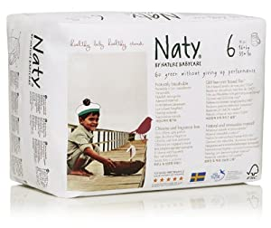 Naty by Nature Babycare Size 6 Extra Large Nappy Pants 18 pack