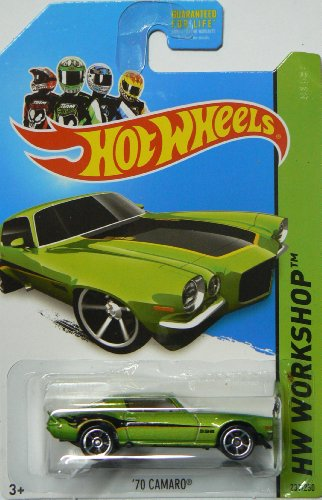 Hot Wheels 2014 Muscle Mania Hw Workshop Green '70 Camaro 231/250 - 1