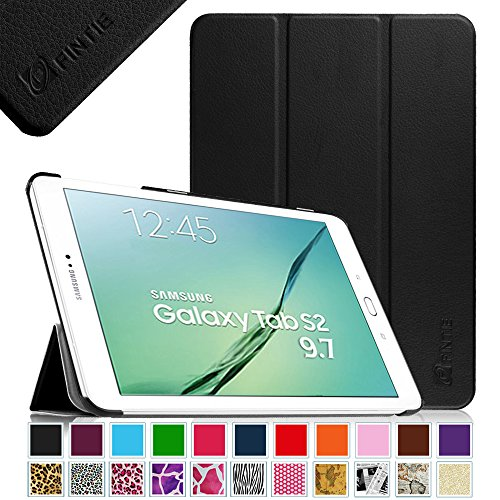 Fintie Samsung Galaxy Tab S2 9.7 Smart Shell Case - Ultra Slim Lightweight Stand Cover with Auto Sleep/Wake Feature for Samsung Galaxy Tab S2 Tablet (9.7 Wi-Fi SM-T810 / LTE SM-T815), Black