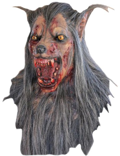 Brown Wolf Latex Mask Halloween Costume - Most Adults