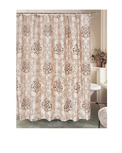 Beatrice Home Fashions Westchester Shower Curtain, Taupe