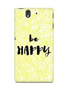 AMEZ be happy Back Cover For Sony Xperia Z