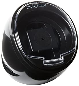 Diplomat Single Black Watch Winder with Built In IC Timer