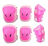 AEXGE Adult Unisex Outdoor Sports Knee Elbow Wrist Protective Pads Set for Skateboard Cycling Roller Skating Cattle Head Style Durable Safety Protective Gear Pads Set
