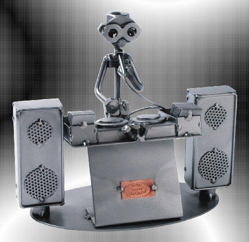 Boystoys-HK-Design-Schraubenmnnchen-DJ-Disco-Fever-Metall-Art-Geschenkideen-Deko-Skulptur-Musiker-Musikinstrumente-hochwertige-Original-Figuren-handgefertigt