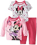 Disney Baby Baby-Girls Minnie Mouse 3 Piece Pant Set, Multi, 3/6 Months